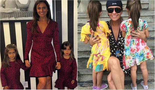 Giovanna Antonelli com as filhas gêmeas, Sofia e Antônia, de 4 anos  (Foto: Reprodução do Instagram)