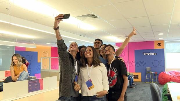 Estudantes Globo Lab (Foto: Reprodução: TV Globo)