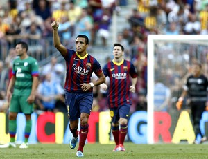 Alexis sanchez barcelona gol levante (Foto: Agência EFE)