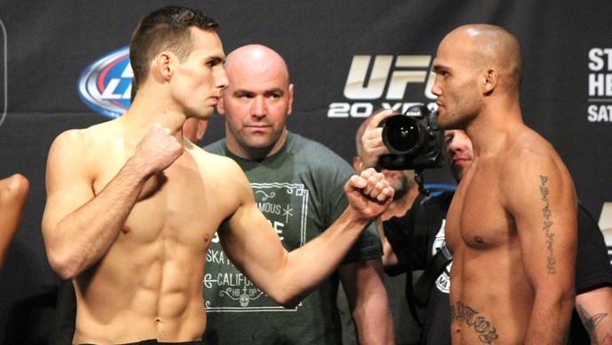 Rory MacDonald x Robbie Lawler Pesagem UFC 167 (Foto: Evelyn Rodrigues)