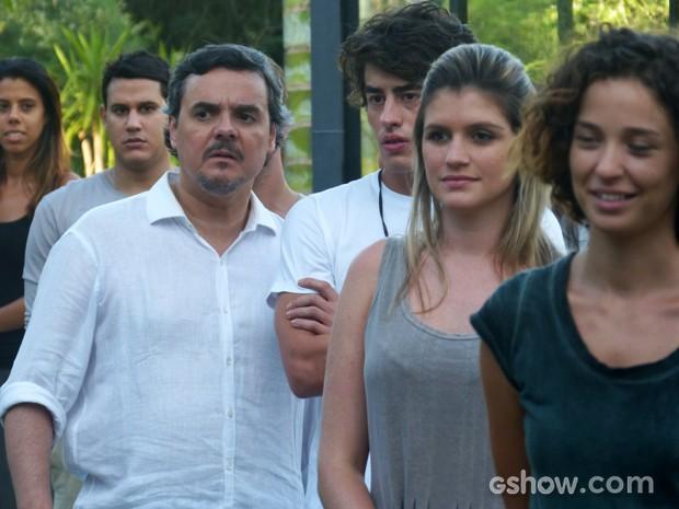 Líder Jorge não acredita no discurso de LC (Foto: Além do Horizonte/TV Globo)