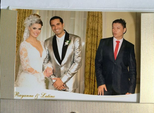 Brinde do casamento de Rayanne Morais e Latino (Foto: Reprodução)