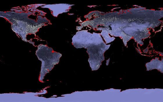 Nível do mar pode subir até 6 metros com temperaturas atuais