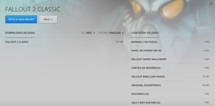 Conheça o GOG, concorrente do Steam que chegou ao Brasil (Foto: Reprodução/Felipe Vinha)