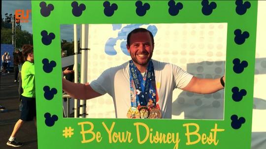 """5, 10, 21 e 42km: após """"fugir"""" de cirurgia e emagrecer, Michel faz desafio na Disney"""