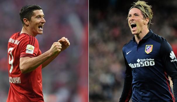 Bayern de Munique e Atlético de Madrid duelam nesta quarta, dia 27 (Foto: Reprodução Globoesporte)