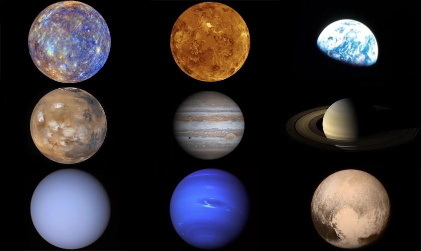 Todos os planetas do Sistema Solar — incluindo o anão (Foto: Nasa/ESA)
