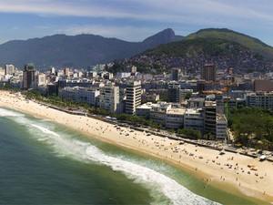 Em foto do Rio, Evan Reinheimer registrou Cristo Redentor, Praia de Ipanema, Leblon e Arpoador na mesma imagem. (Foto: Evan Reinheimer / Divulgação)