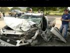 Pai e filho ficam feridos em acidente na BR-116, em Governador Valadares
