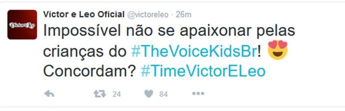 Victor & Leo comentam Audições do The Voice Kids em rede social (Foto: Reprodução)
