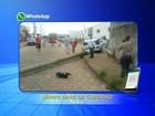 Motorista invade a calçada e derruba poste em Avaré