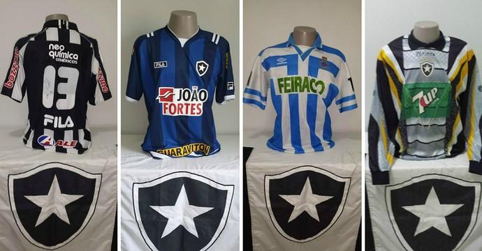 Camisas do Botafogo (Foto  Montagem GE) eda7e0d66fe18