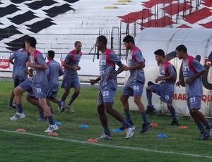 Treino do Santa Cruz (Foto: Daniel Gomes/Globoesporte.com/PE)