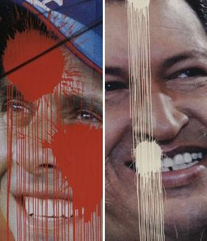 Eleição na Venezuela - Chávez x Capriles (Foto: Fernando Llano/AP)