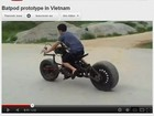 Vdeo mostra &#39;cpia&#39; caseira da moto do Batman 