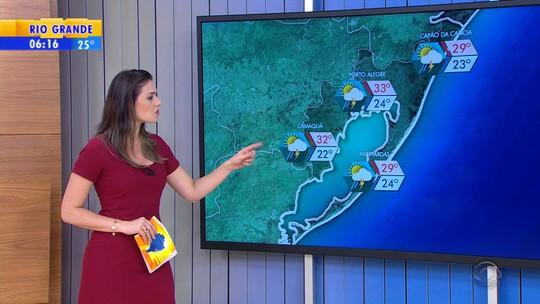 Calor deve provocar chuva em todo o Rio Grande do Sul nesta segunda-feira