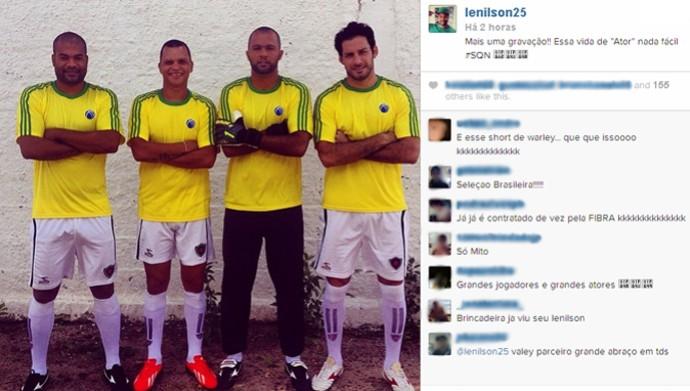 Lenílson, Warley, Genivaldo e Frontini viram garotos-propaganda de patrocinadora do Botafogo-PB (Foto: Reprodução / Instagram)