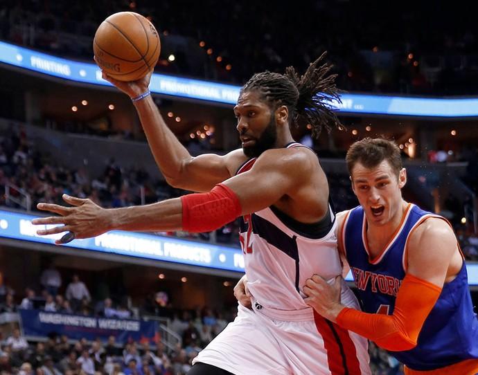Nene Wizards x Knicks (Foto: AP)
