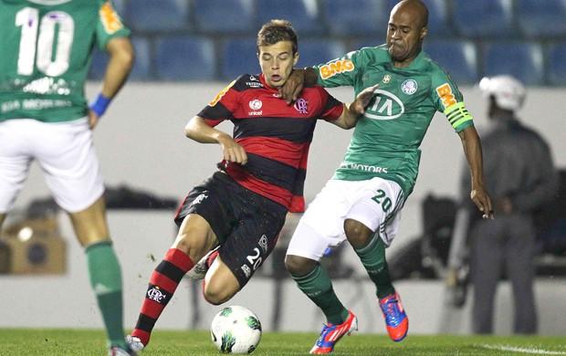 Thomas e marcos Assunção, Palmeiras e Flamengo (Foto: Wagner Carmo / Vipcomm)