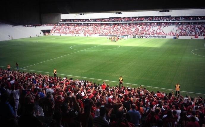 Arena da Baixada Atlético-PR JMalucelli Jogo-teste Amistoso (Foto: Divulgação/Atlético-PR)