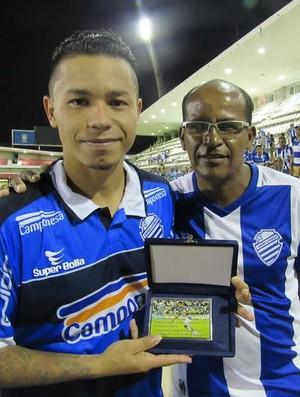 Cleyton - meia CSA (Foto: Denison Roma/GloboEsporte.com)