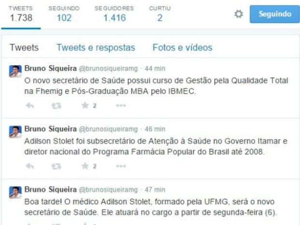anúncio bruno saúde ok (Foto: Twitter/Reprodução)