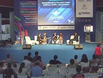Economia criativa foi discutida (Foto: Reprodução/TV Globo)