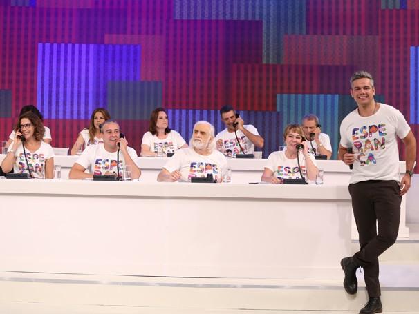 Otaviano Costa comandou o  Mesão da Esperança neste domingo (Foto: Globo/Paulo Belote)
