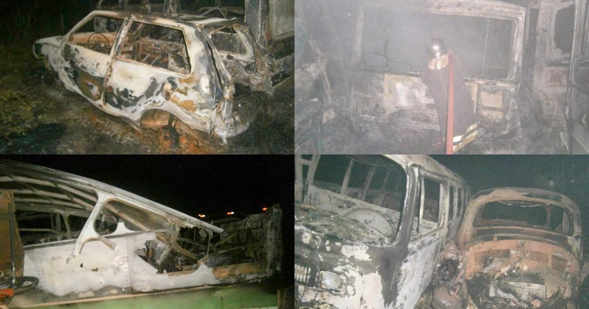 Incêndio destrói 11 veículos em pátio da Prefeitura de Rosário do Ivaí - Globo.com