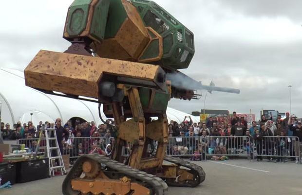 Megabot é o robô norte-americano que participará de disputa contra o japonês Kurata.  (Foto: Reprodução/YouTube)