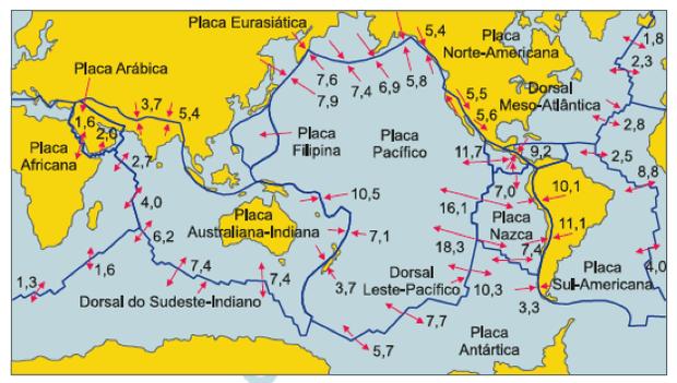Placas tectônicas (Foto: Reprodução)