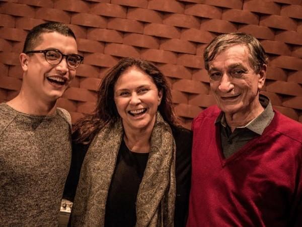 """Fafá gravou a faixa """"Consegui"""", com Arthur Nogueira (à esq.) e Antonio Cicero  (Foto: Divulgação)"""