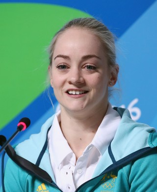 Larrissa Miller ginasta Austrália (Foto: Mark Kolbe/Getty Images)