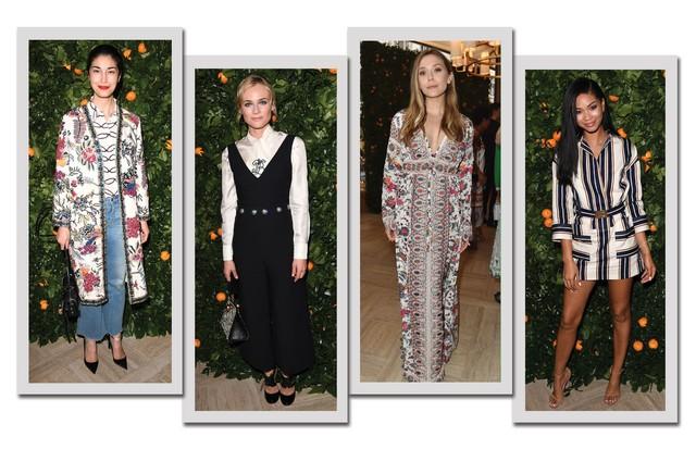 Da esquerda para a direita: Caroline Issa, Diane Kruger, Elizabeth Olsen e Chanel Iman (Foto: Arte Vogue Online/Getty Images)