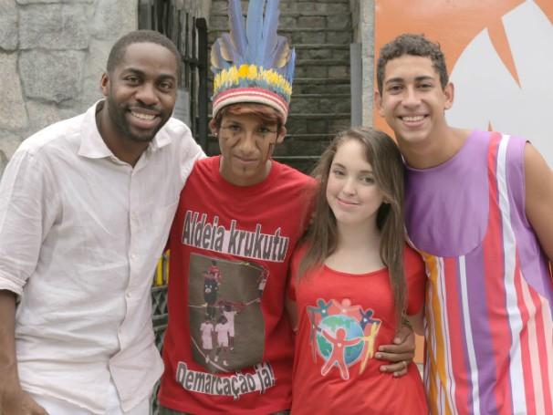 Anna Luiza e estão no Time Lázaro no Click Esperança (Foto: Globo)