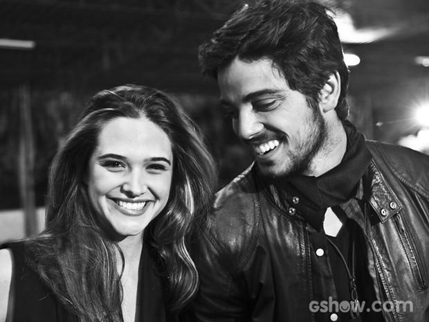 Ju e Rô contam que riram dos boatos que diziam que eles namoravam (Foto: Marcelo Corrêa)