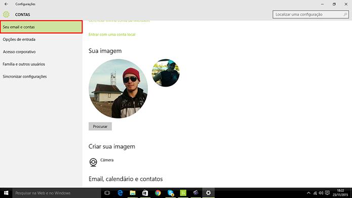 Usuário pode trocar fotos por vídeo na tela de login do sistema (Foto: Reprodução/Elson de Souza)