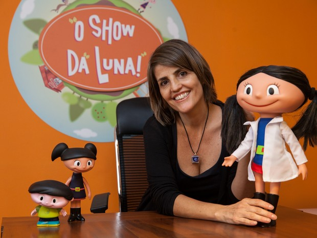 Célia Catunda, desenhista e 'mãe da Luna', novo fenômeno infantil (Foto: Marcelo Brandt/G1)