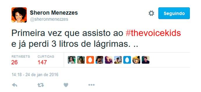 Sheron Menezzes agora faz parte do #todaschora do The Voice Kids (Foto: Gshow)