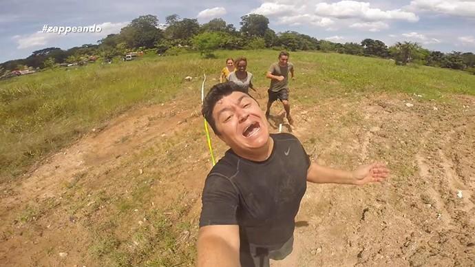 Márcio Braga participa de corrida de obstáculos com equipe do 'Zapp' (Foto: Rede Amazônica)