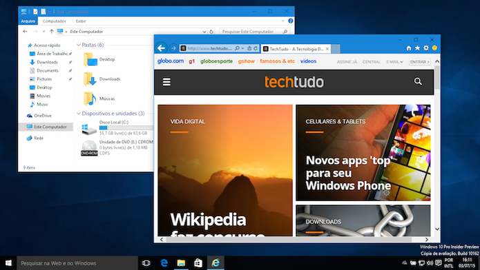 Aprenda a ativar a coloração das janelas do Windows 10 (Foto: Reprodução/Helito Bijora)  (Foto: Aprenda a ativar a coloração das janelas do Windows 10 (Foto: Reprodução/Helito Bijora) )