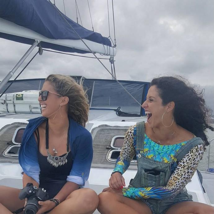 Natasha Valente e Fabíola Constâncio, do vôlei de praia (Foto: Reprodução)