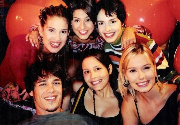 Camila dos Anjos, Fernanda Paes Leme, Graziella Schmidt, Igor Cotrim, Juliana Knust, Karina Dohme em Sandy & Jnior (Foto: Acervo Pessoal)