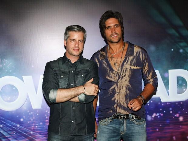 Victor e Leo na gravação do Show da Virada em São Paulo (Foto: Cláudio Augusto/ Foto Rio News)