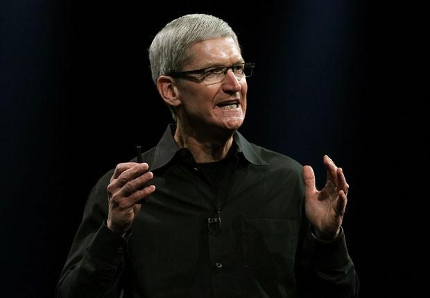 Tim Cook fala durante o evento da Apple para desenvolvedores em San Francisco (Foto: Justin Sullivan/Getty Images/AFP)