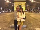 Thor Batista faz passeio romântico com a namorada em Paris