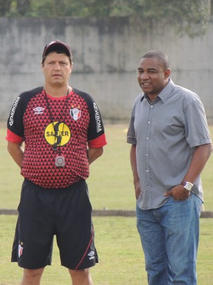 Adilson Batista Cesar Sampaio Joinville (Foto: João Lucas Cardoso)