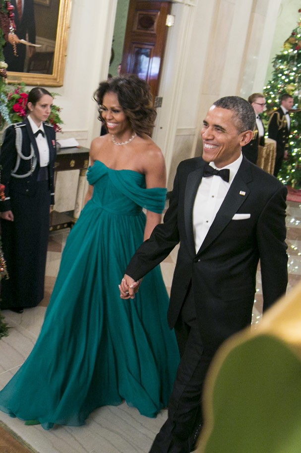 Michelle Obama veste Marchesa  (Foto: Getty Images)