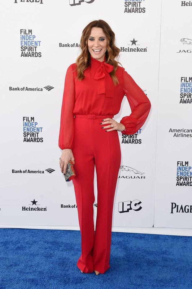 Maria João Bastos em prêmio de cinema em Los Angeles, nos Estados Unidos (Foto: Jason Merritt/ Getty Images/ AFP)