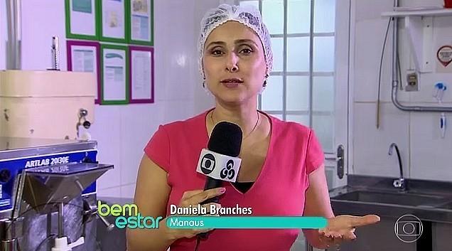 Repórter Daniela Branches da Rede Amazônica, no Bem Estar (Foto: Reprodução/Bem Estar)